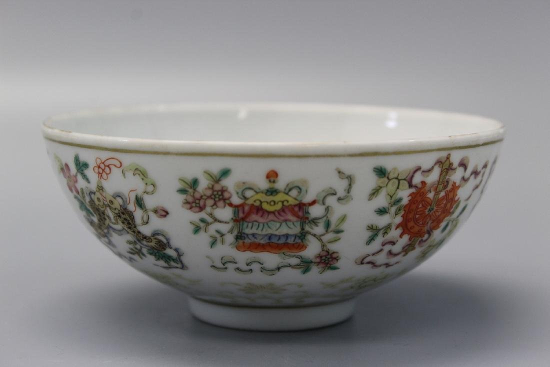Chinese famille rose porcelain bowl, guangxu mark.