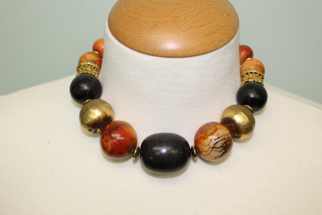 Horn and bone bead necklace.
