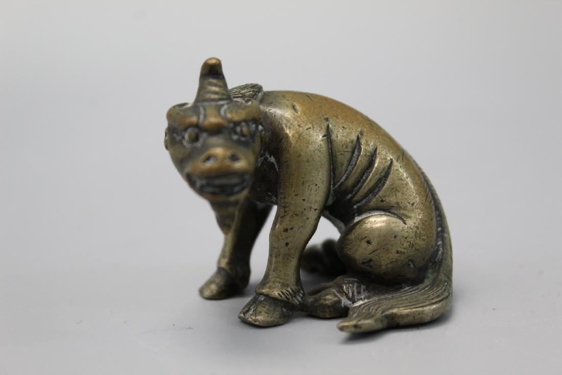 Chinese bronze beast paper weight.
