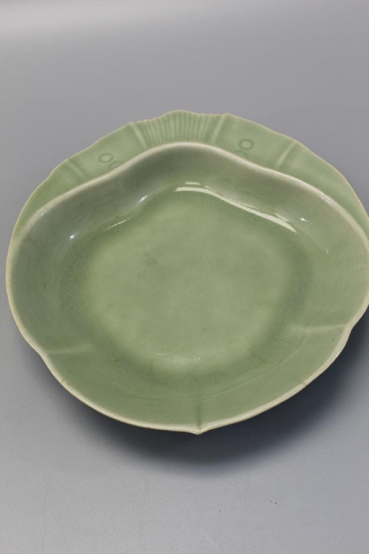 Chinese celadon porcelain dish.