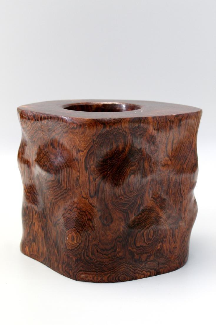 Japanese wood brush pot.