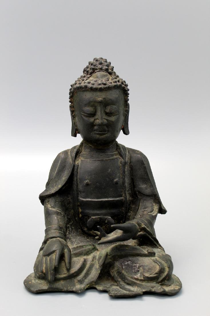 Chinese bronze figure, Ming Dynasty.