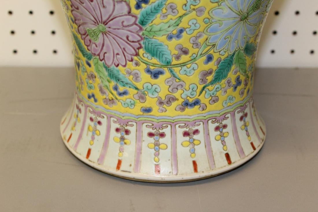 Big Chinese famille rose porcelain vase. - 6