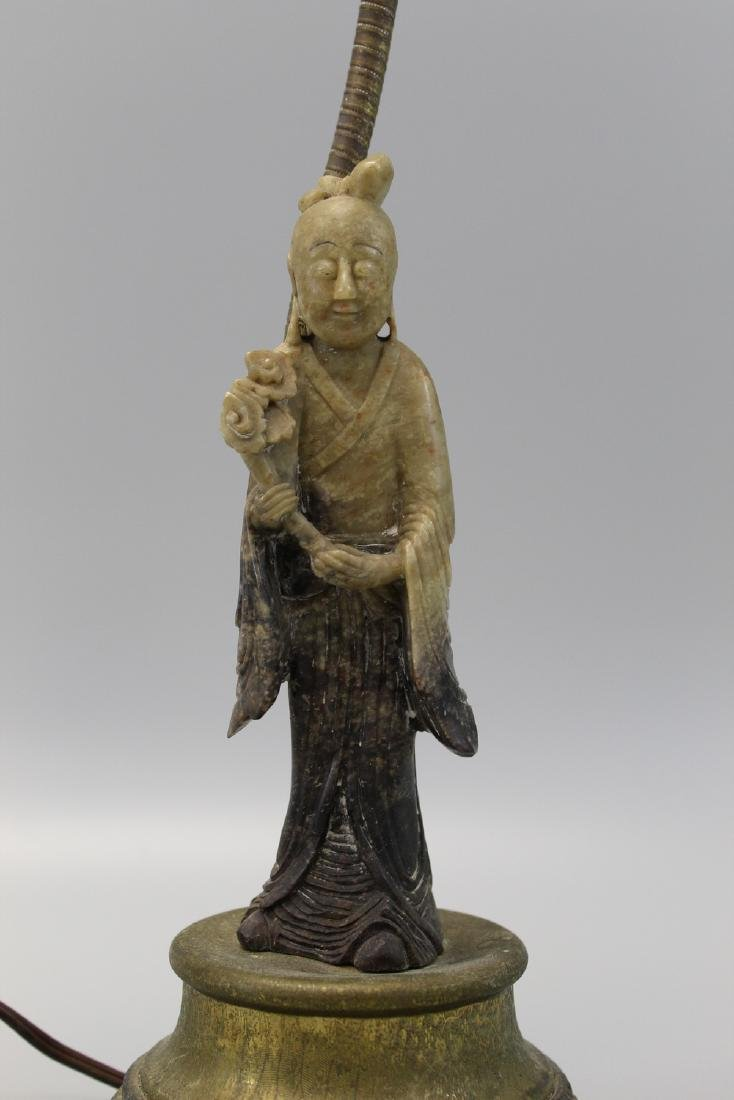 Chinese carved soapstone lamp.