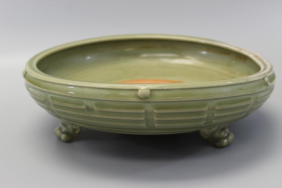 Chinese tripod Longquan porcelain incense burner, Ming