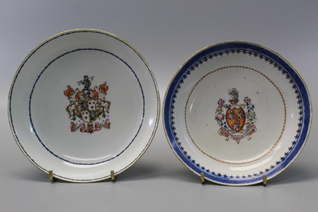 Two Chinese armorial porcelain dishes.