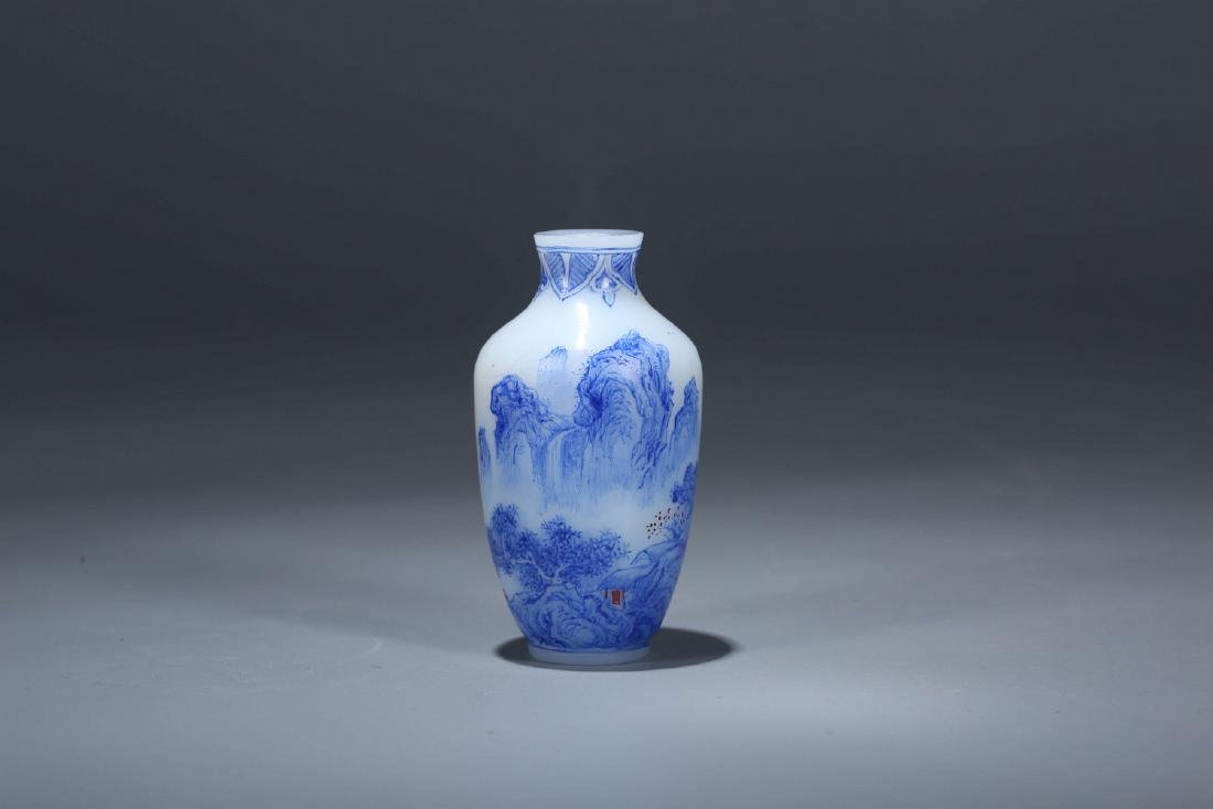 Chinese Enameled Peking glass snuff bottle, Qianlong