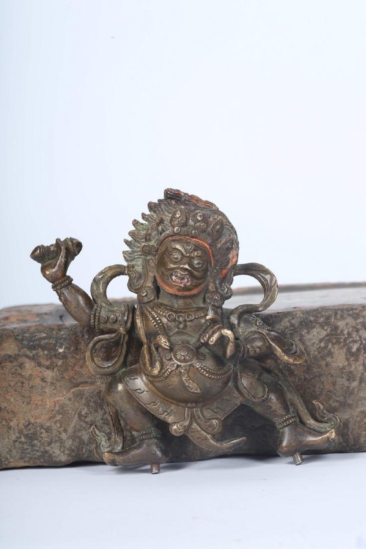 Chinese bronze figure.