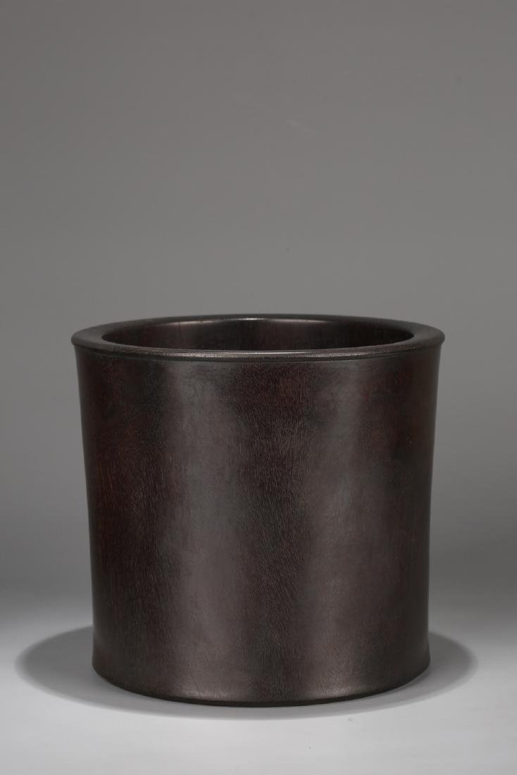 Chinese Zitan brush pot.