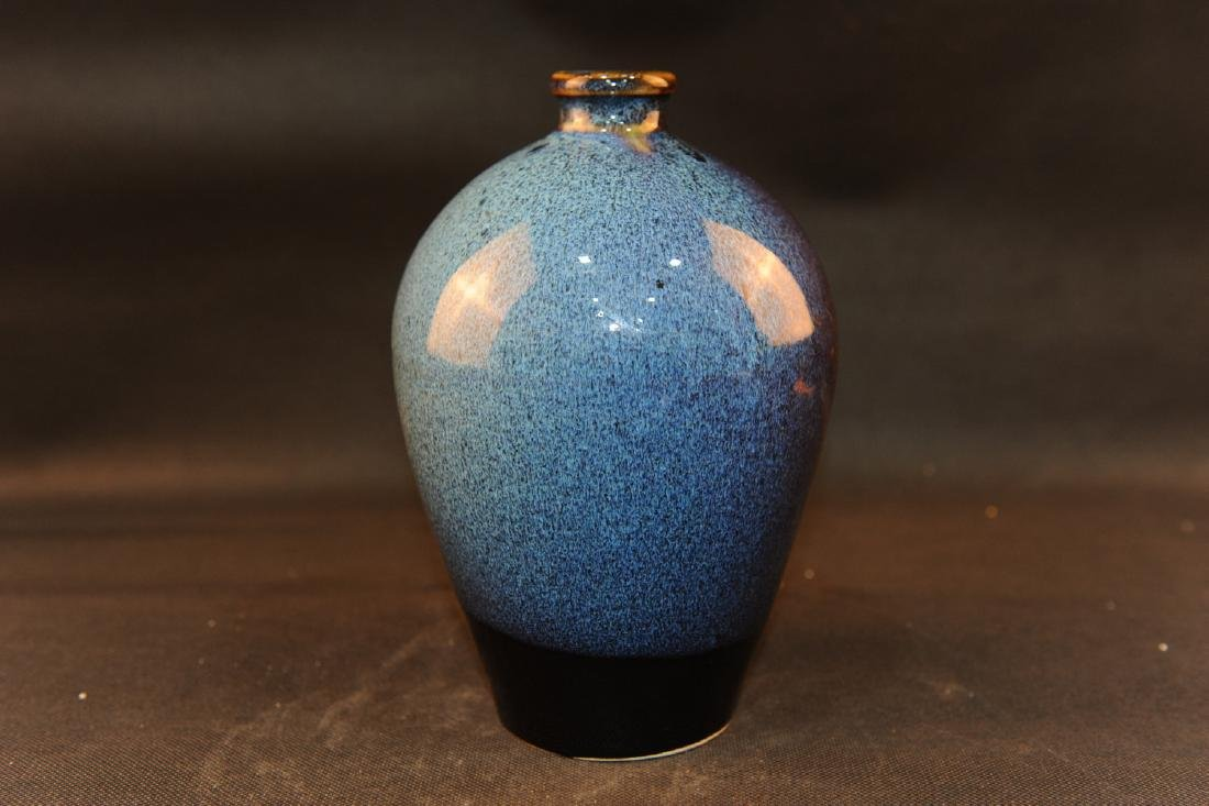 Chinese Jun Ware porcelain meiping vase.