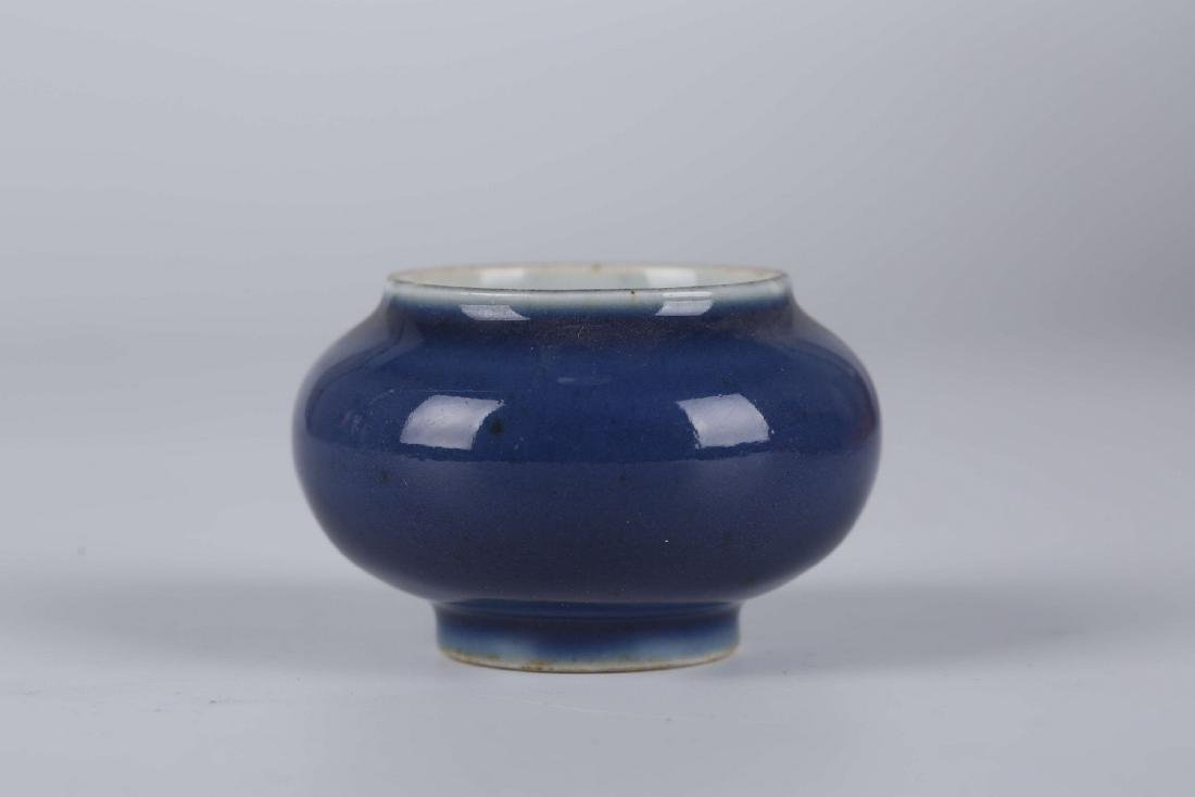 Chinese powder blue porcelain brush washer, Kangxi