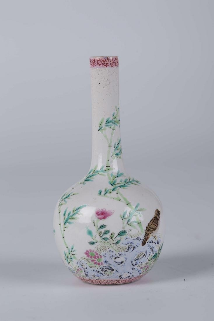 Chinese famille rose porcelain vase, Yongzheng mark.