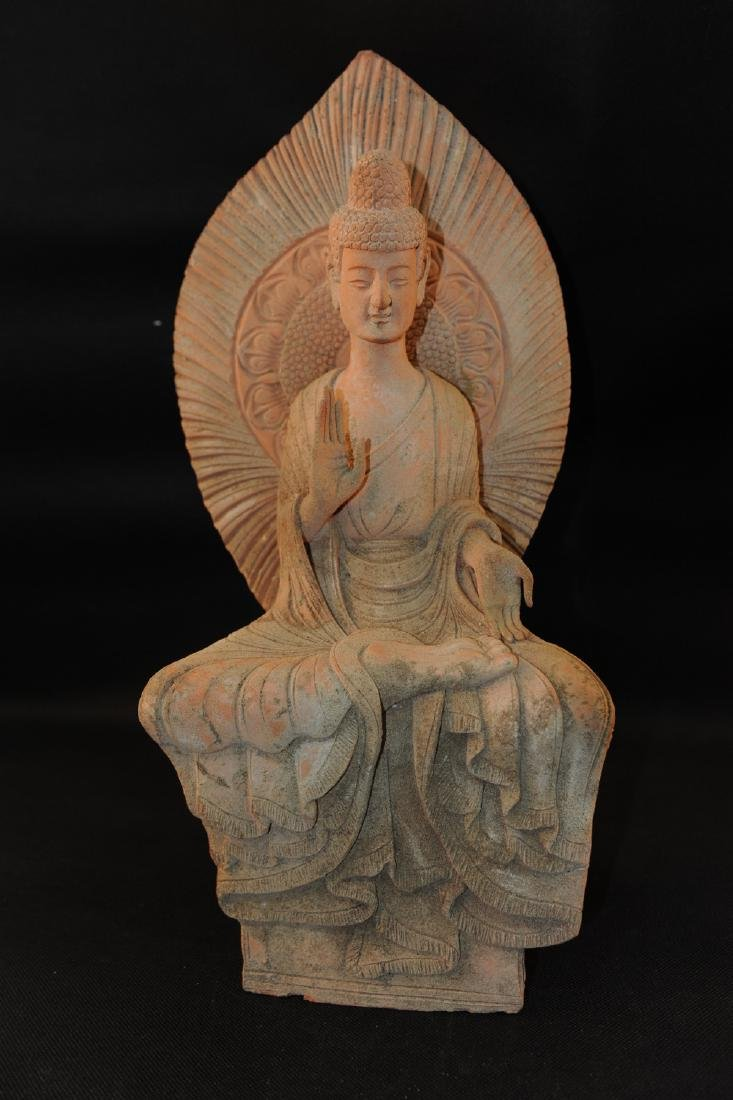 Chinese carved stone buddha.
