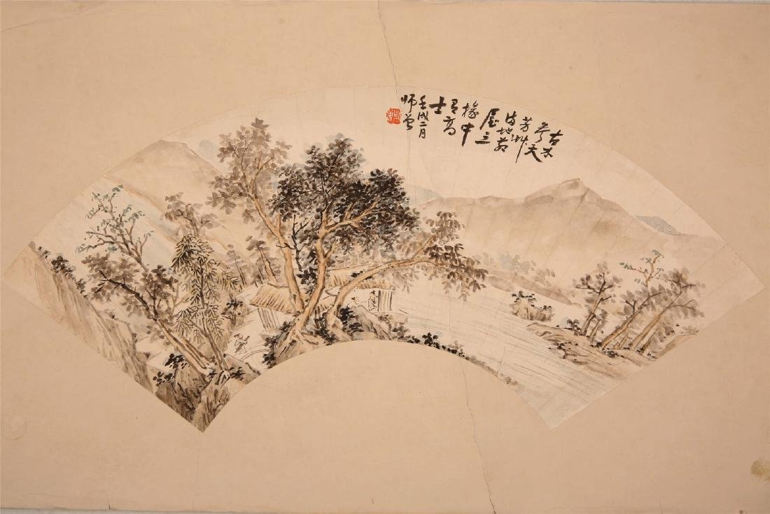 Chinese ink painting on paper, attributed to Chen Shi
