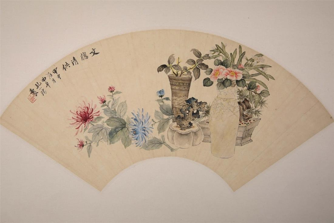 Chinese water color painting on paper, attributed to - 2