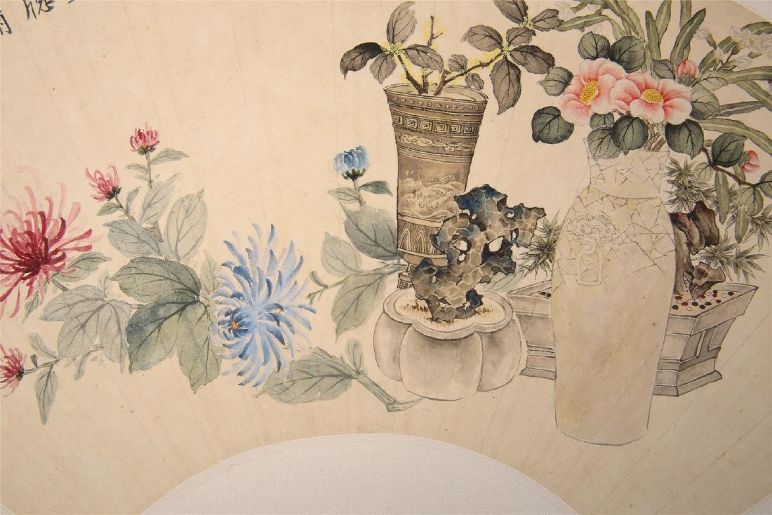 Chinese water color painting on paper, attributed to - 6