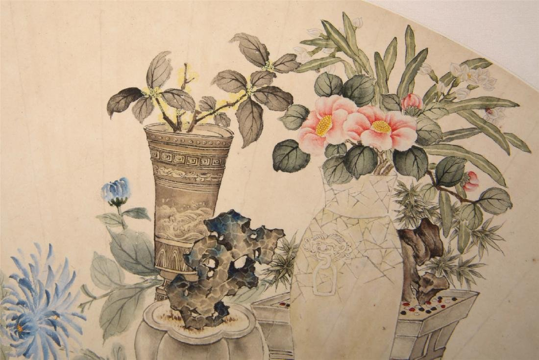 Chinese water color painting on paper, attributed to - 8