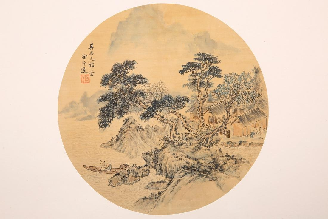 Chinese water color painting on paper, attributed to Xu