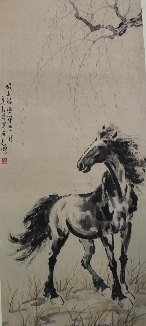 Chinese ink painting on paper, attributed to Xu Bei