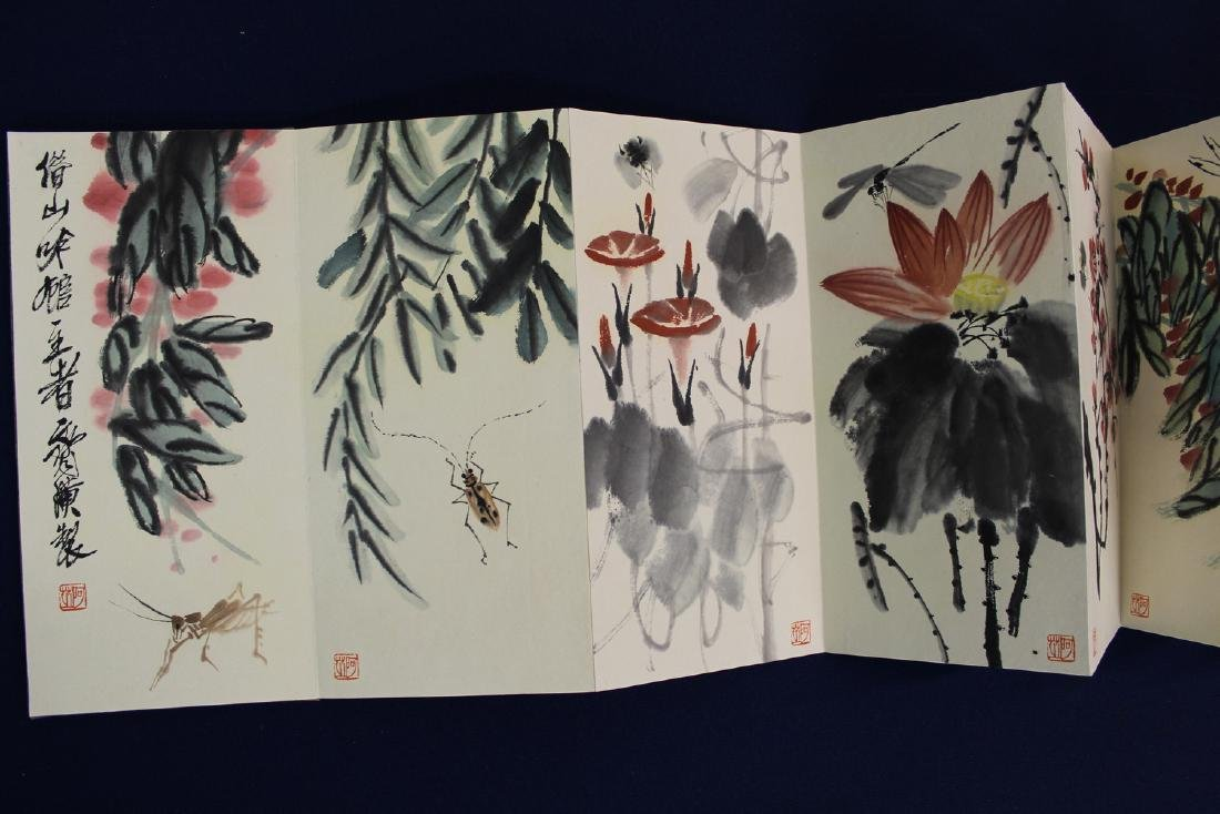 Chinese water color painting album, attributed to Qi