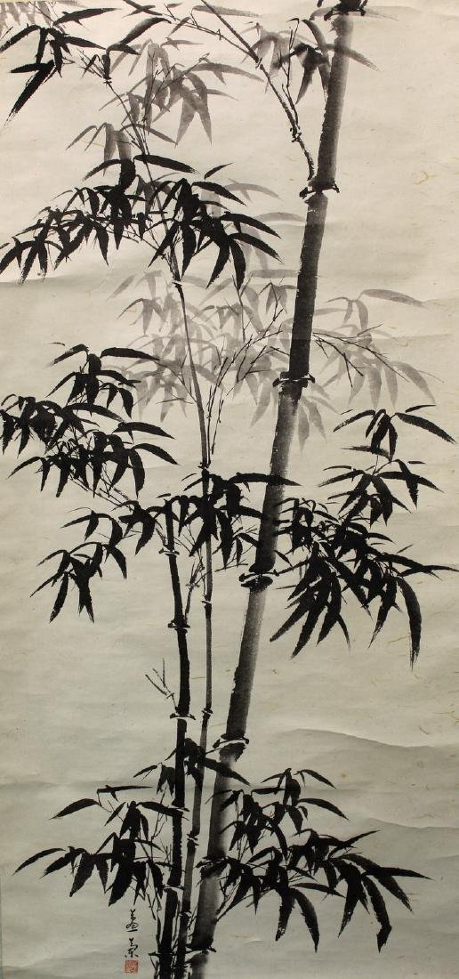 Chinese ink painting scroll on paper,