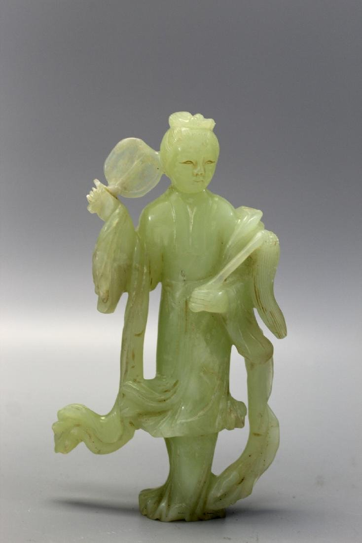 Chinese carved jade figure of Meiren.