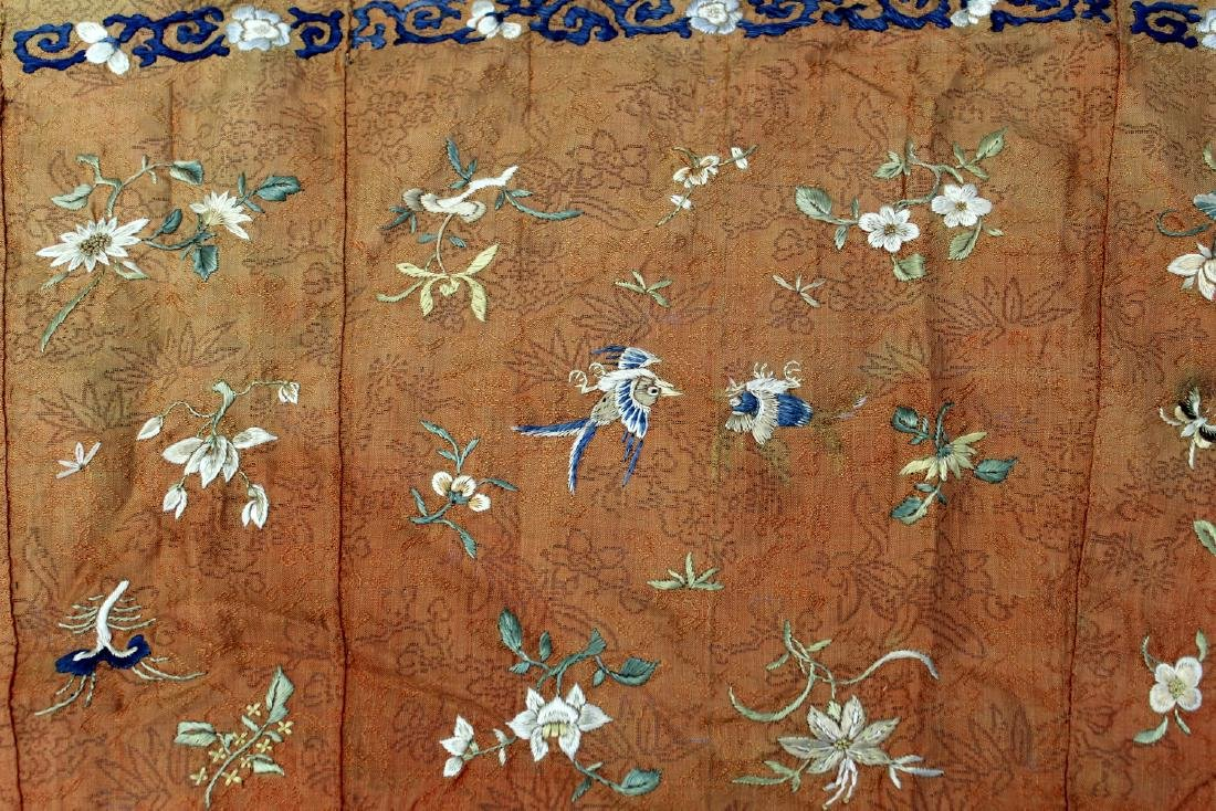 Two Chinese embroidery pieces.