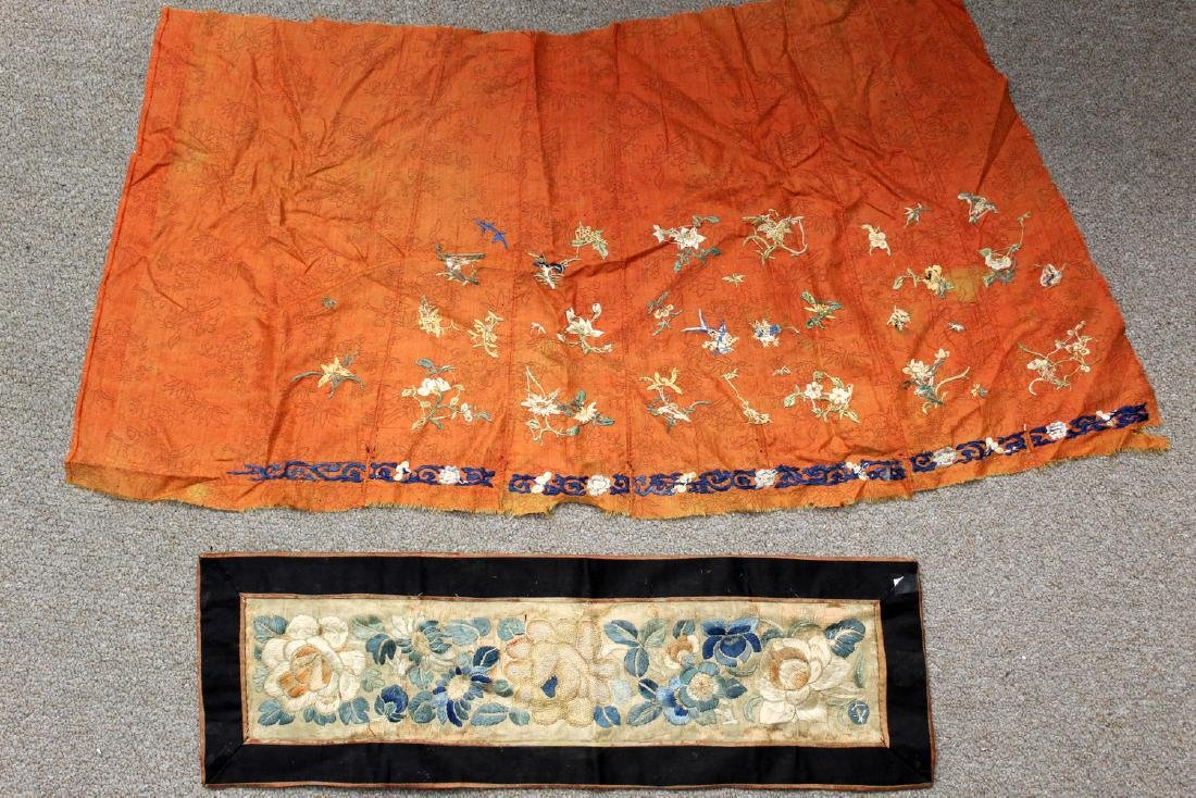 Two Chinese embroidery pieces. - 2
