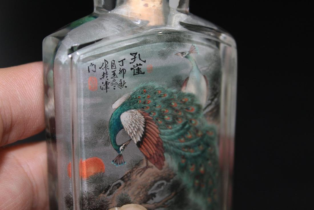 Chinese inside-painted glass snuff bottle - 4
