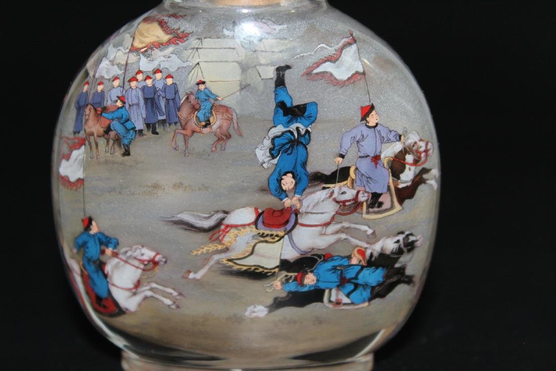 Chinese inside-painted glass snuff bottle - 3