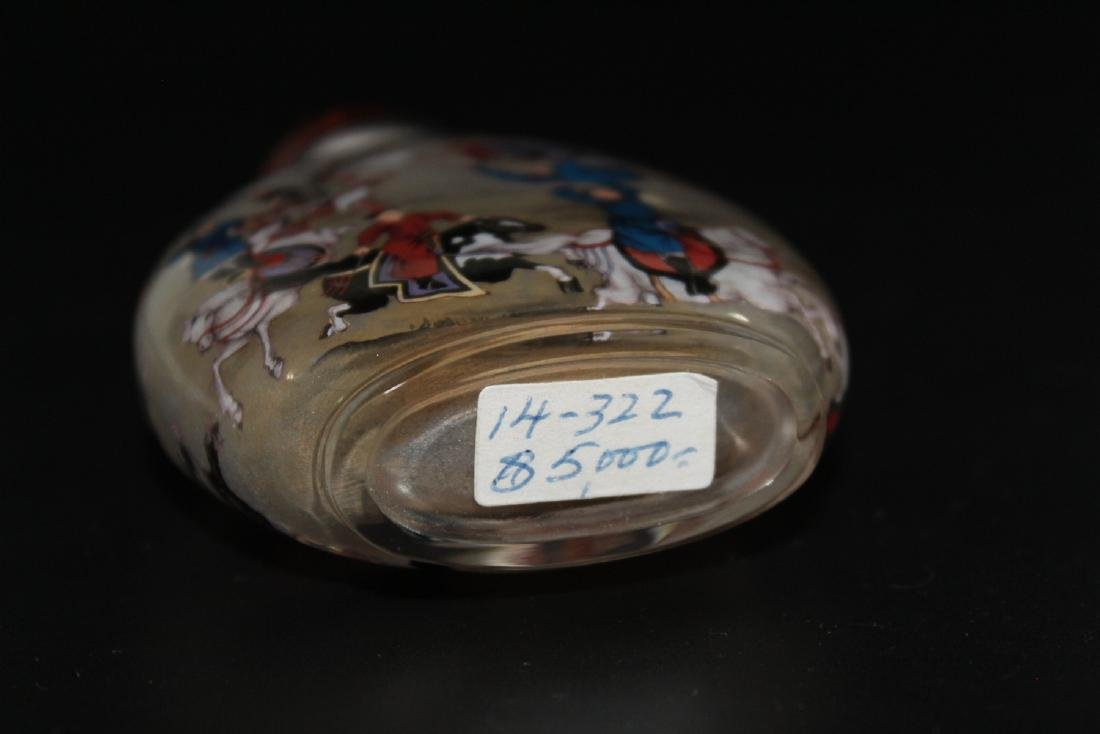 Chinese inside-painted glass snuff bottle - 5