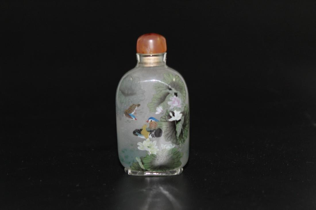 Chinese inside-painted glass snuff bottle - 2