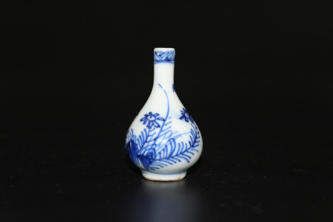Chinese blue and white miniature vase