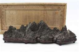 A very rare Chinese scholar's rock. 18th-19th Century.