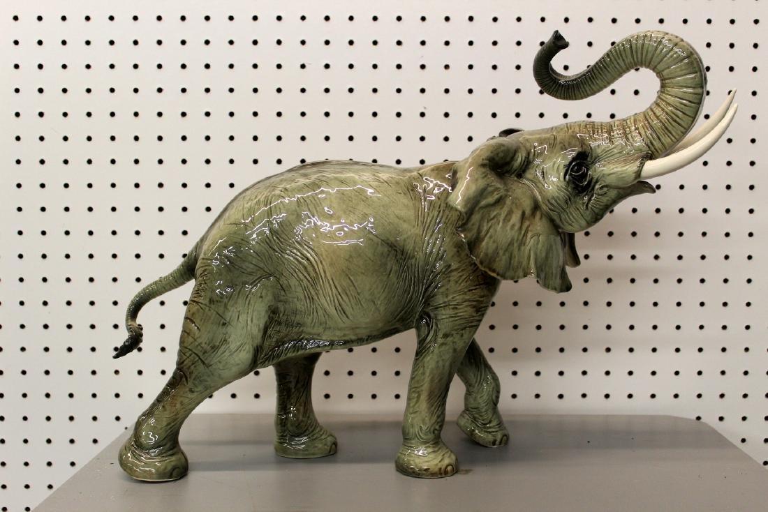 Antique Huge Vintage Goebel German Porcelain Elephant - Jan