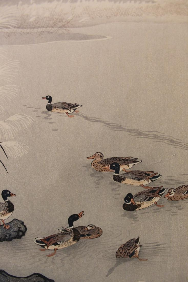 Ducks on the lake, Japanese woodblock print. - 3