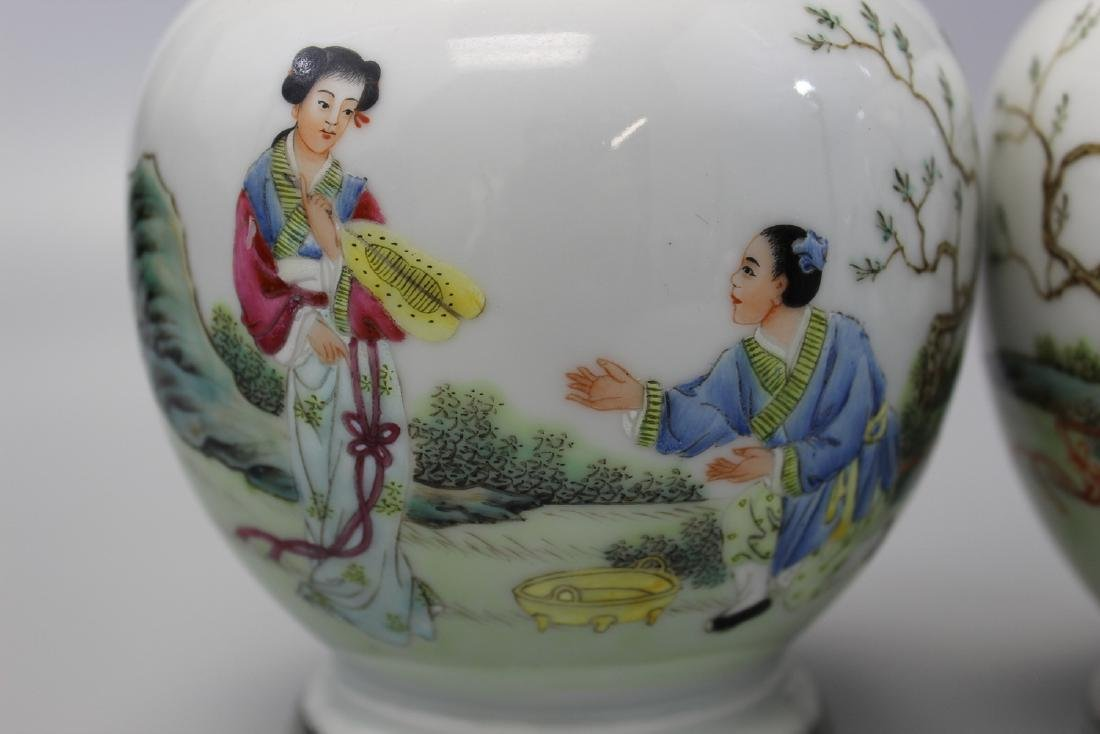 Pair of Chinese famille rose porcelain vases. Qianlong - 2