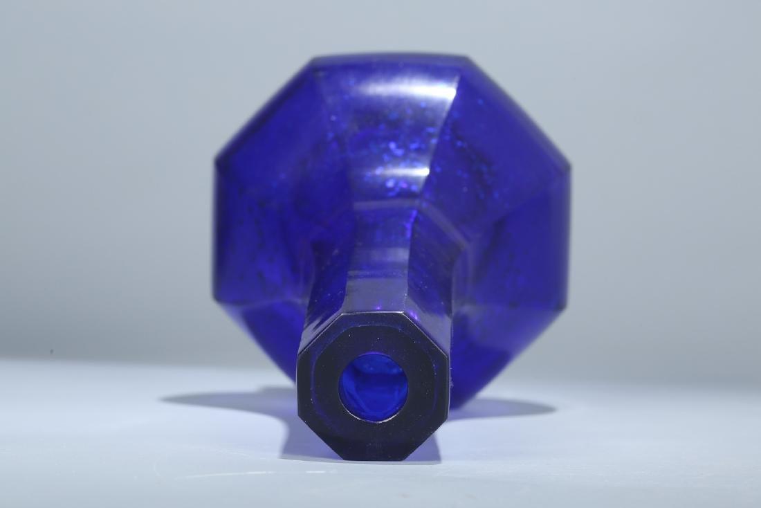 Chinese Peking glass vase, Qianlong mark. - 5