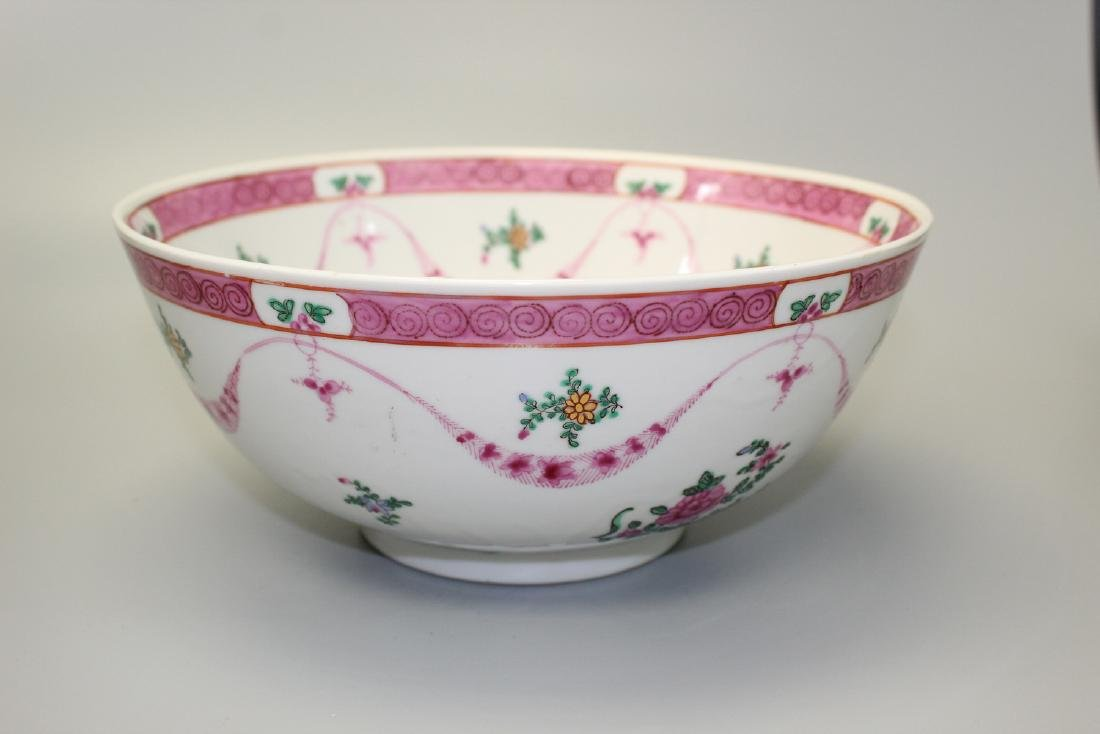 Chinese famille rose punch bowl.