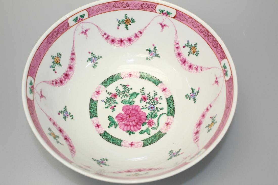Chinese famille rose punch bowl. - 2