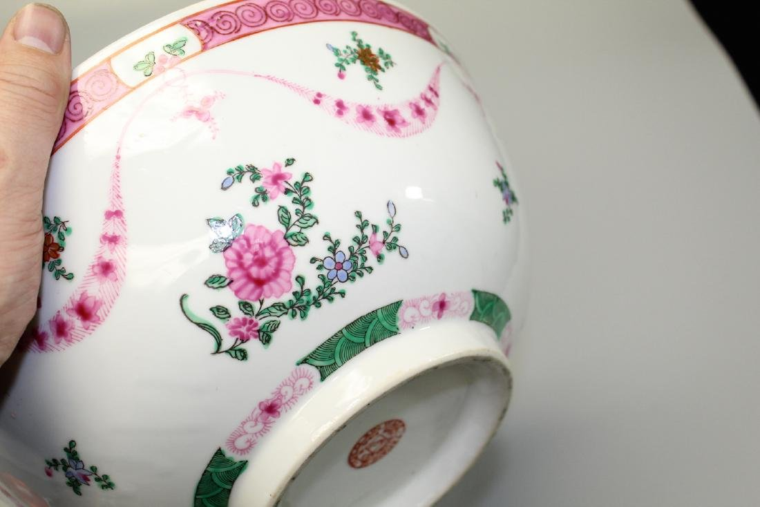 Chinese famille rose punch bowl. - 3