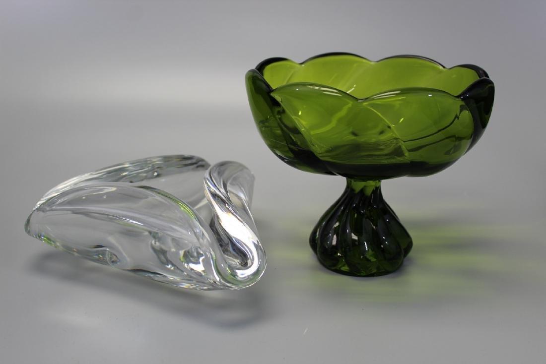 Baccarat crystal glass ash tray.