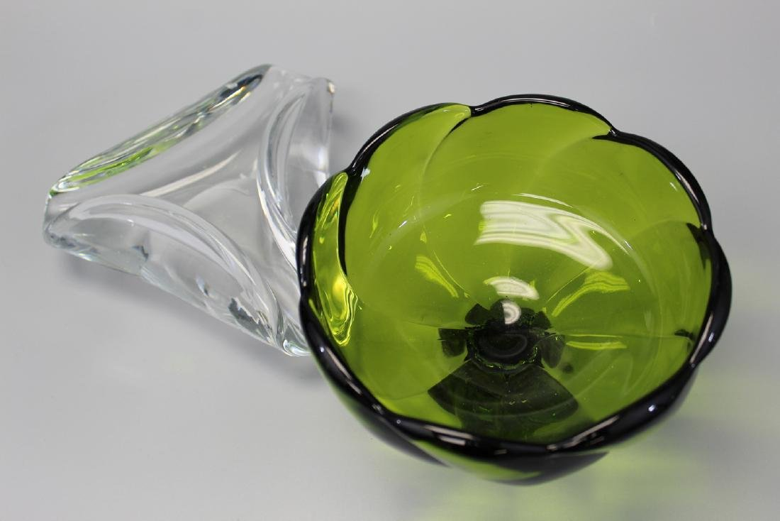 Baccarat crystal glass ash tray. - 2