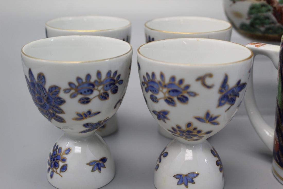 A group of Asian porcelain bowls and cups. - 3