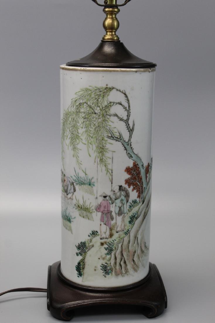 Chinese porcelain vase lamp.