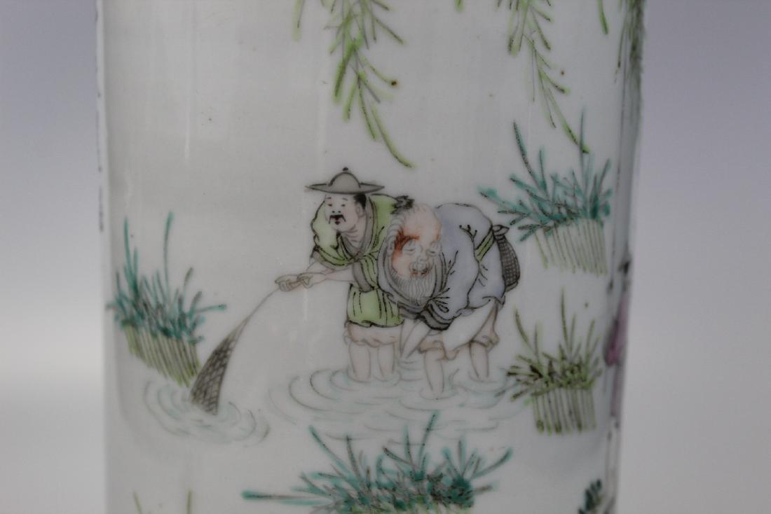Chinese porcelain vase lamp. - 3