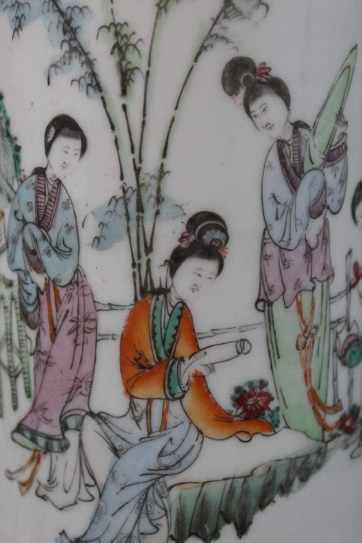 Chinese porcelain vase lamp. - 2