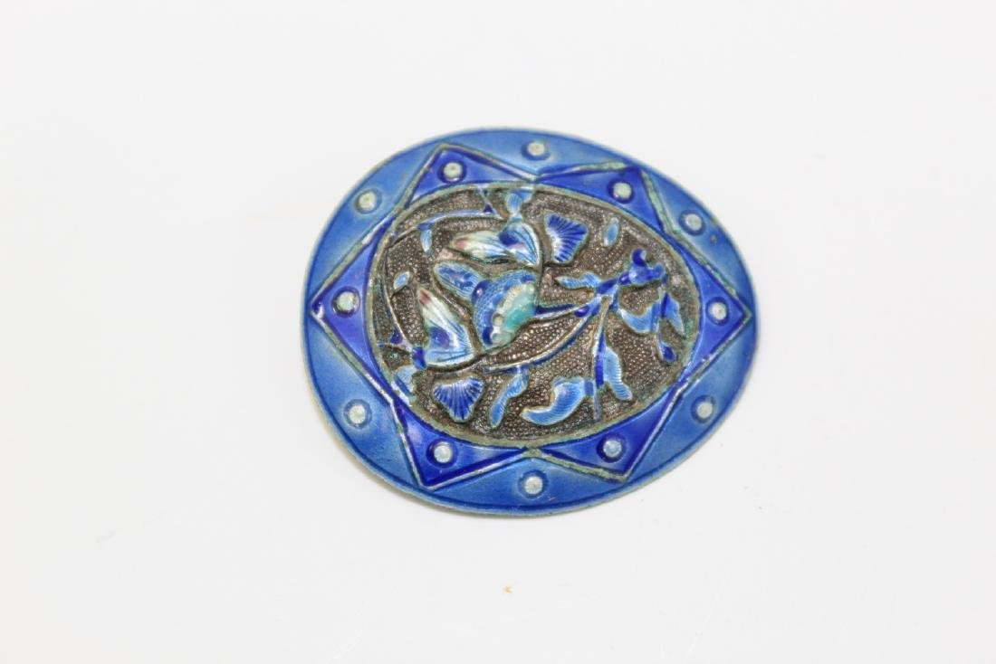 Antique Chinese Enameled Pin