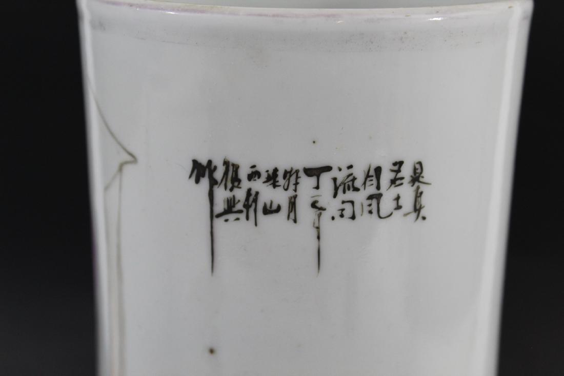Chinese famille rose porcelain hat vase. Republic - 3