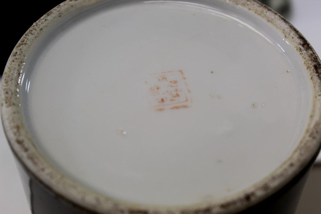 Chinese famille rose porcelain hat vase. Republic - 5